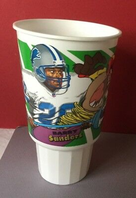 1995 Mcdonald's Nfl Looney Plays  Collectible Cup - Barry Sanders &taz The Sweep