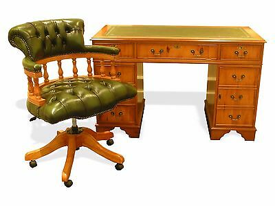 Regency Style Desk & Captains Chair in Yew, Nationwide Delivery Available!!!!