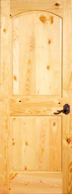 "Knotty Pine 2 Panel, Top Arch Interior Door 18"" x 80"" x 1-3/8"" - slab or prehung"
