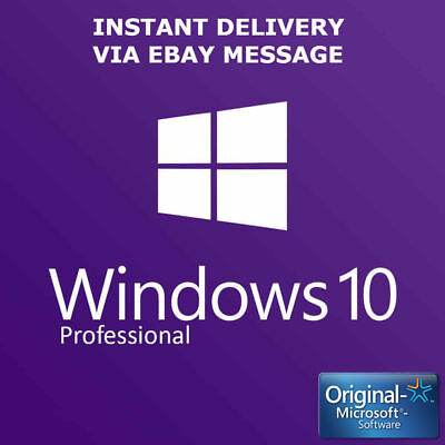 Microsoft Windows 10 Pro Key Activation Key Product Key License Code 32 / 64 bit