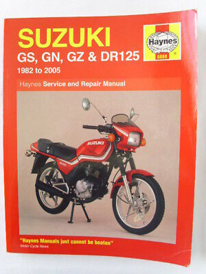 0888 haynes suzuki gs gn gz dr125 singles 1982 2005 workshop rh picclick co uk Suzuki DR100 Seat Cover Suzuki DR100 Seat Cover