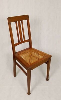 Vierer Satz Jugendstil Stühle Eiche massiv Art Nouveau Set of four chairs