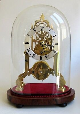 Lovely original Eight day Antique 1840s six spoke small sized Skeleton Clock.