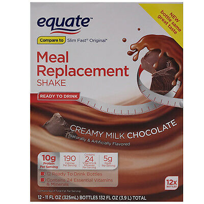 Equate Creamy Milk Chocolate Ultra Weight Loss Shake 12 ct SHIPS FREE