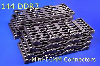 144 Molex Mini-DIMM DDR3 Connectors 244 Ckt 1.5V 0.60mm Pitch. Rev. Angle 22.5*