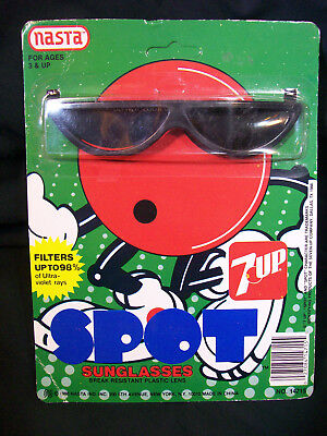 Vintage 1988 7up Cool Spot Sunglasses new on card by Nasta