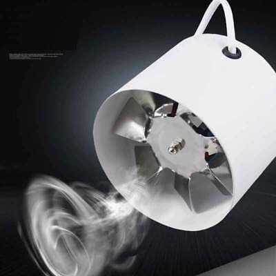 """4"""" Inch Inline Duct Fan Booster Exhaust Blower Air Cooling Vent Metal Blade"""