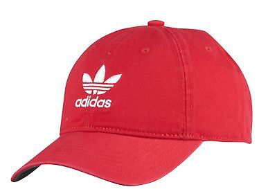 7c4a6380697 ADIDAS ORIGINALS TREFOIL Relaxed Men s Strapback Hat Cap Red White ...