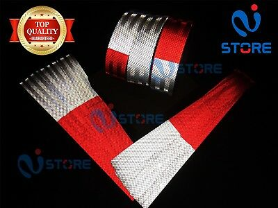 "DOT C2 Conspicuity Reflective Tape 7"" White & 11"" Red Safety Warning Trailer RV"