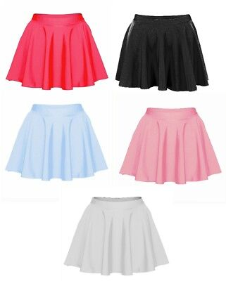 Childrens Girls Ladies Short Circular Lycra Skirt - Dance/ballet/tap/disco/party