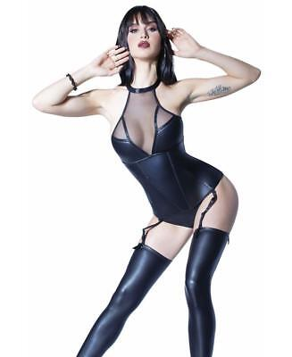 Fused Nylon Lining And Wet Look Details Bustier Coquette D9361 Corsets & Bustiers