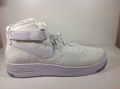 outlet store 57011 2a586 NIKE AIR FORCE 1 Ultra FLYKNIT Mid Triple White Sneaker Size 13 Shoes  817420 100