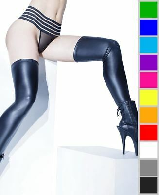 b4447f31a PLUS SIZE MATTE Wet Look Thigh High Stockings - Coquette D1880X ...