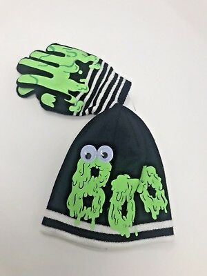 CAT & JACK Halloween Boo Slime Googly Eyes Beanie & Glove Set