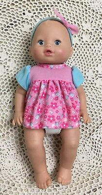 EUC Fisher Price Little Mommy Wipey Dipey Baby Doll Interactive Sounds w/ Bottle