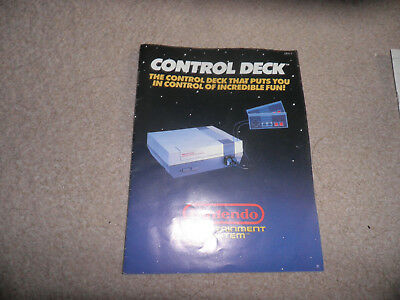 nes - control deck console instructions - good condition