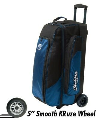 "KR Cruiser 3 Ball Roller Bowling Bag Color Blue with 5"" Urethane Wheels"