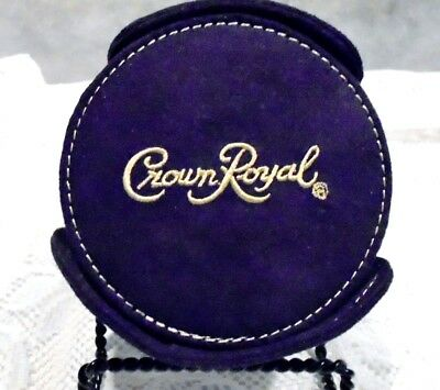 Crown Royal Embroiderd Coaster Set with Holder