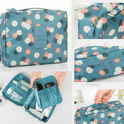 2018 Lady Expandable Travel Bag Hanging Wash Toiletry Organizer Make Up Pouch OL
