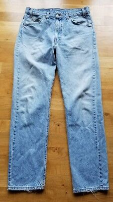 Vintage Levis 505 33x32 Light Wash Orange Tab Blue Jeans USA L681