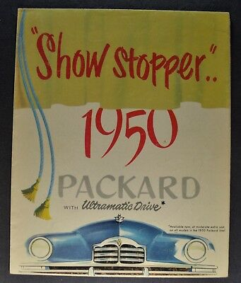 1950 Packard Sales Brochure Folder Super 8 Custom Nice Original 50