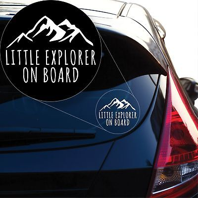 Little Explorer on Board Decal Sticker for Car Window, Laptop and More # 994