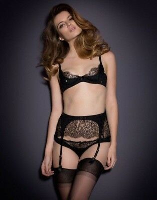 BNWT Sexy Authentic Agent Provocateur Izmira Lace Bra Thong Brief Garter  SOLDOUT 72a5226fe