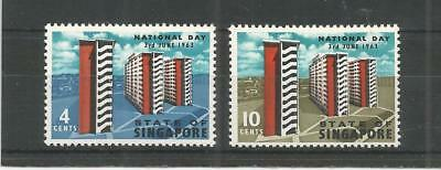 Singapore 1963 National Day Sg,80-81 U/mm Nh Lot 7056A