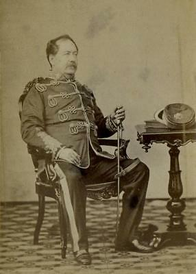 CDV: Colonel Woods seated in uniform c.1865