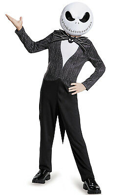 Brand New The Nightmare Before Christmas Jack Skellington Classic Child Costume