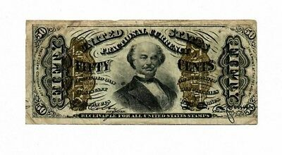1863 Third Issue 50  Cents FRACTIONAL CURRENCY Type I FR#1334