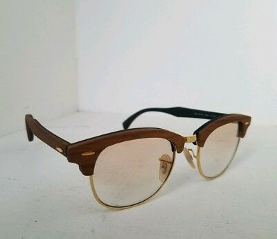 3819d9d9d6 Ray Ban Clubmaster Eyeglasses RB 5154-M 5560 Gold Walnut Wood Rx - able