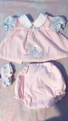 Vintage Baby Girl Clothes Set Infant Newborn Baby Dress Bloomers Mayfair