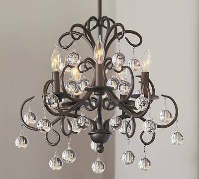 New Pottery Barn Bellora Crystal Chandelier New In Box 269 99