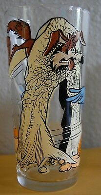 Road Runner and Wile. E Coyote Pepsi Collector Drinking Glass 1976 Looney Tunes