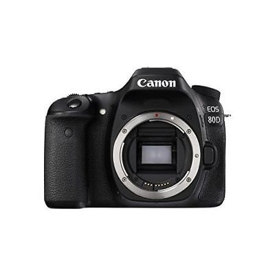Canon EOS 80D 24.2MP Digital SLR Camera - Black (Body) 1263C004 FREE SHIPPING
