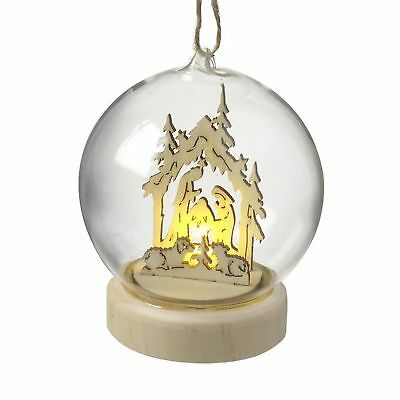 Heaven Sends Hanging Glass Dome with Nativity Scene (HS2382)