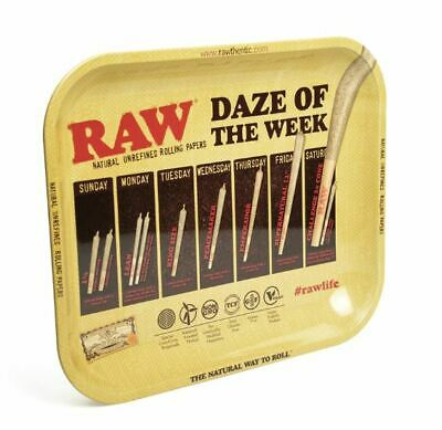 RAW Daze Rolling Tray Large Metal Smoking Cigarette Tobacco 34cm x 28cm