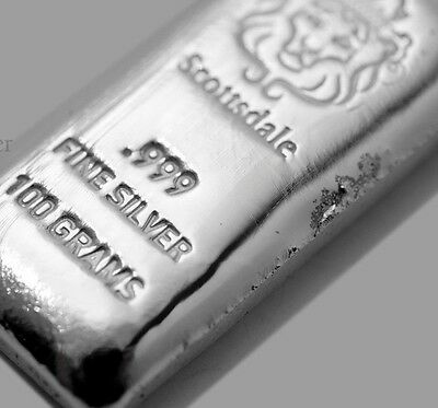 100~Gram ~Pure .999 Silver~ Pourded Loaf Bar ~3.21~Ounces Silver Bullion~ $88.88