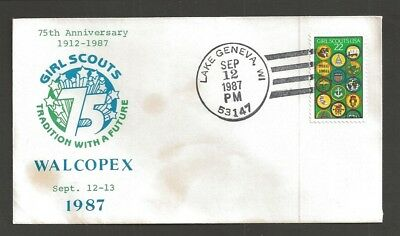 1987 US Girl Scouts Lake Geneva Wis 75th anniversary WALCOPEX