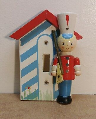 Vtg IRMI 60's Wooden Soldier Light Switch Outlet Cover Plate Nursery Baby Boy
