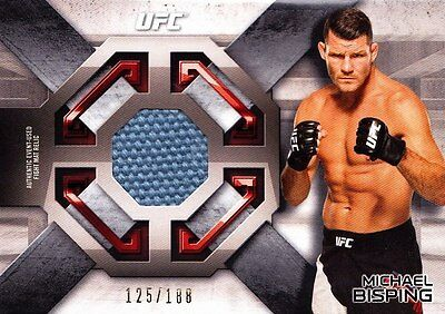 2016 Topps UFC Knockout Fight Mat Relic Insert: Michael Bisping (FMR-MB) 125/188
