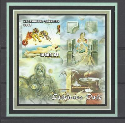 Mozambique 2002 Dali-Dream Caused by the Flight of a Bee... MNH Imperf. S/S