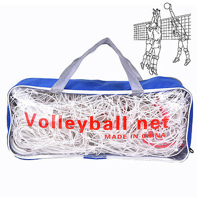 Competition Official PE 9.5M x 1M Volleyball Net with Pouch For Training US