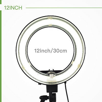 """Mecor 12"""" 45W 5500K Dimmable Ring Continuous Light Portrait Photo Video Studio"""