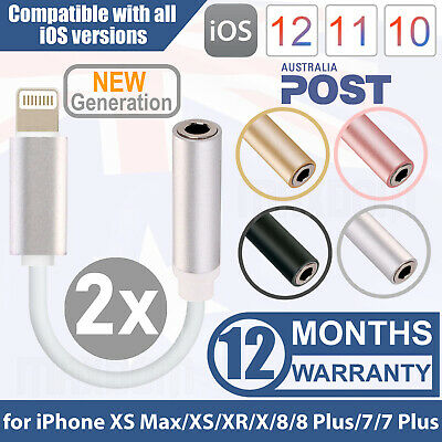 3.5mm AUX Headphone Jack Adapter Cable for iPhone 7 8 X Plus Lightning to Audio