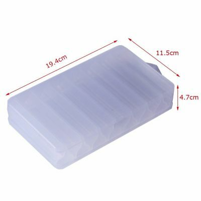 Plastic Double Sided 14 Fishing Lure Bait Hook Tackle Storage Box Transparent LN
