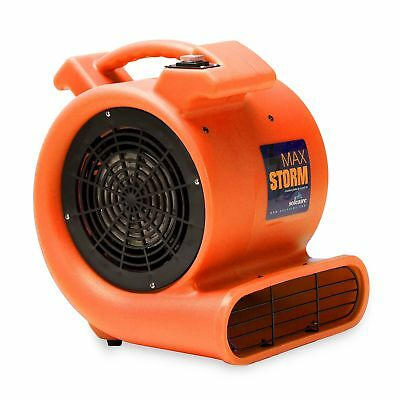 Max Storm 1/2 HP Durable Lightweight Air Mover Carpet Dryer Blower Floor Fan for