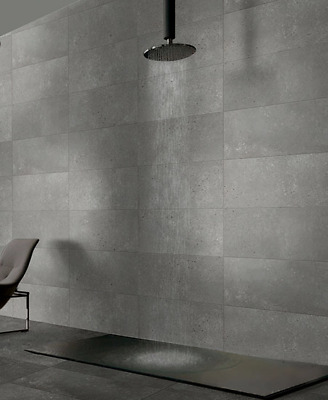 Concrete Stone Dark Grey Lappato Porcelain Wall Floor Tile 600x600, 300x600