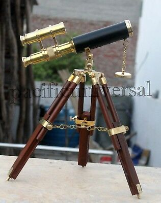 Handmade Marine Collectible Brass Leather Telescope Working Astrolabe Royal Gift